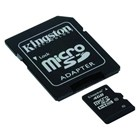 Paměť.karta Kingston Micro SDHC 4GB/Cl10 +adap. SD